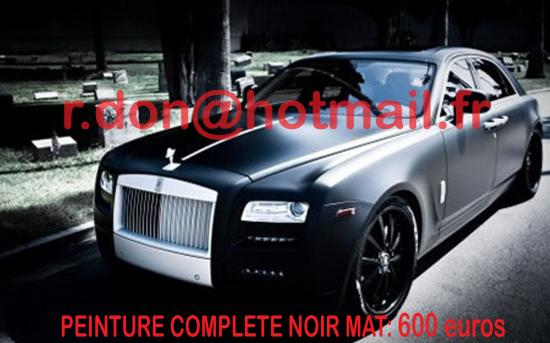 ROLLS-ROYCE-GHOST, noir mat covering, covering auto