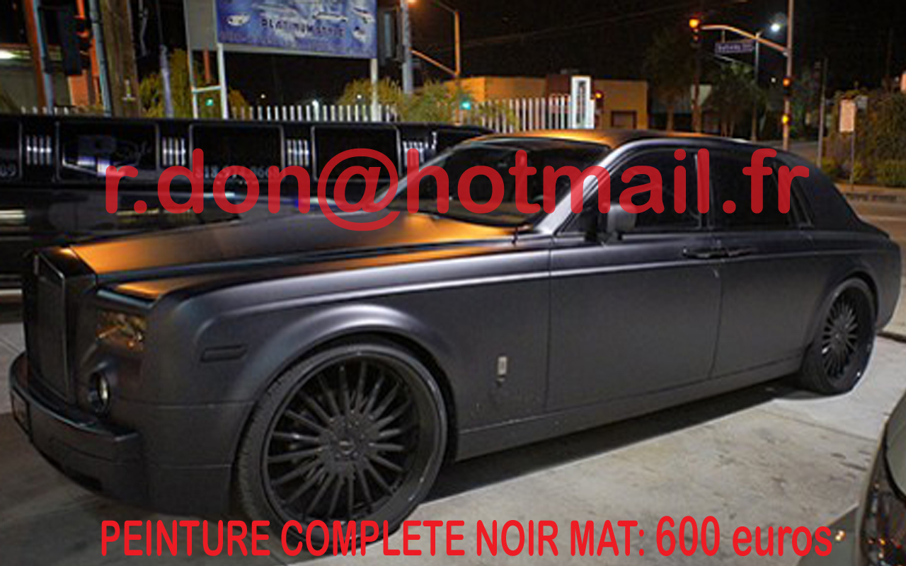 rolls royce phantom noir mat covering voiture luxe covering. Black Bedroom Furniture Sets. Home Design Ideas