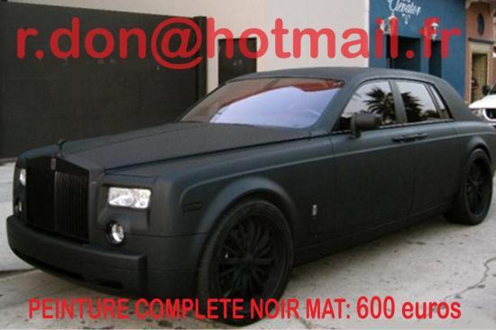 Rolls Royce Phantom noir mat, Rolls Royce noir mat