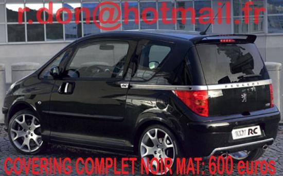 Peugeot 1007, Peugeot 1007, covering Peugeot 1007 noir mat