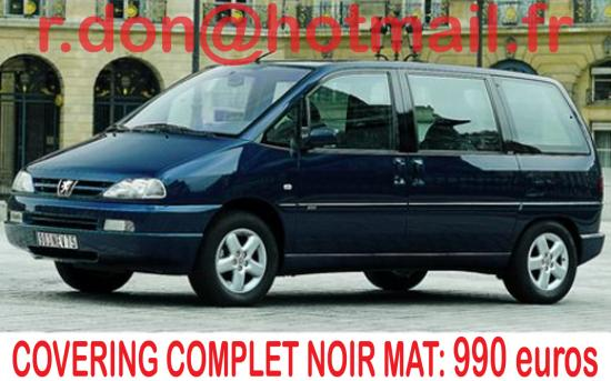 Peugeot 806, Peugeot 806, covering Peugeot 806 noir mat