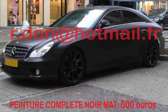 Mercedes CLS noir mat, Mercedes CLS noir mat