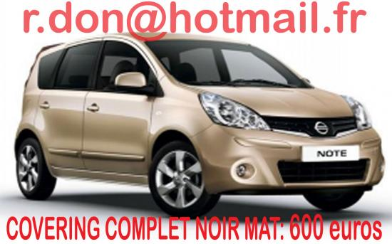 Nissan Note, Nissan Note, covering Nissan Note noir mat