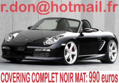 Porsche Boxster, Porsche Boxster, covering Porsche Boxster noir mat