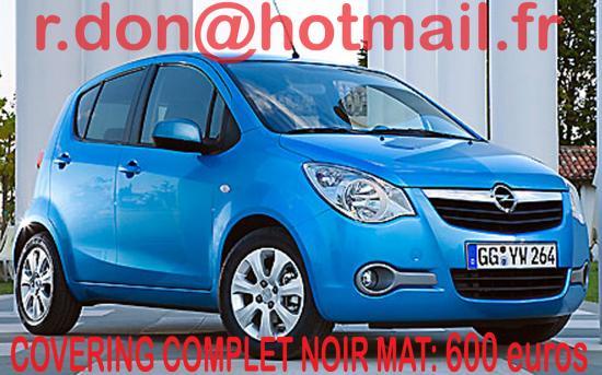 Opel Agila noir mat, Opel agila noir mat, Opel agila noir mat