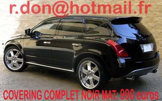 Nissan Murano noir mat, Nissan Murano noir mat