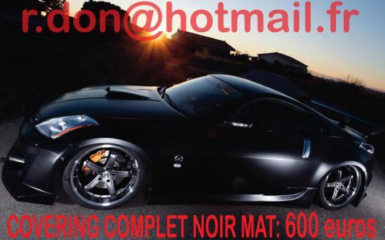 Nissan 350Z, Nissan 350Z, covering Nissan 350Z noir mat