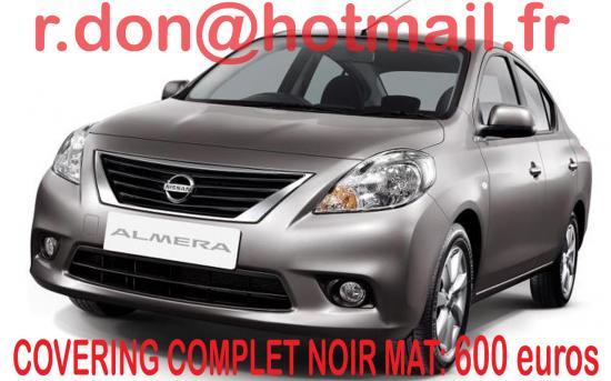Nissan Almera noir mat, Nissan Almera noir mat