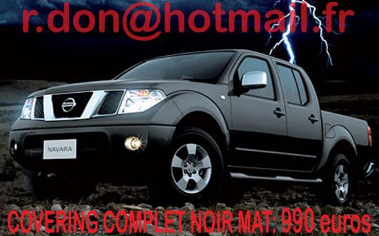 Nissan Navara, Nissan Navara, covering Nissan Navara noir mat