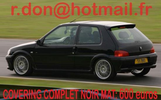 Peugeot 106 , Peugeot 106, covering Peugeot 106 noir mat