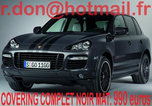 Porsche Cayenne, Porsche Cayenne, covering Porsche Cayenne noir mat