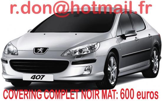 Peugeot 407, Peugeot 407, covering Peugeot 407 noir mat