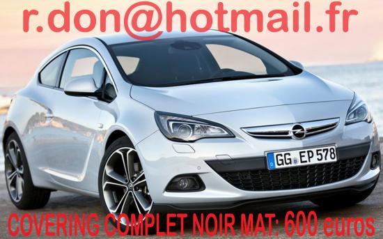 Opel astra, Opel astra, covering Opel astra noir mat