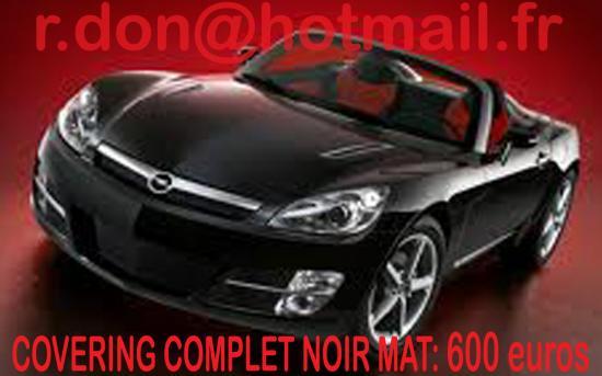 Opel GT, Opel GT, covering Opel GT noir mat