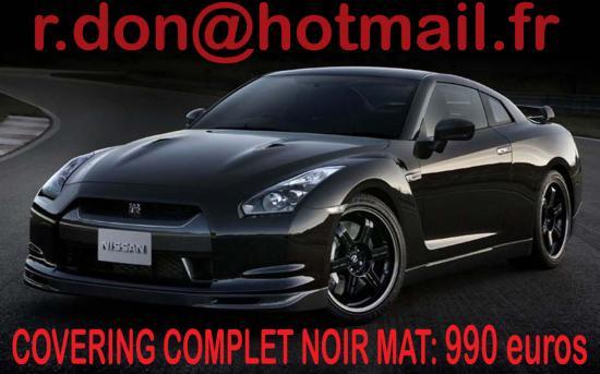 Nissan GTR noir mat, Nissan GTR noir mat