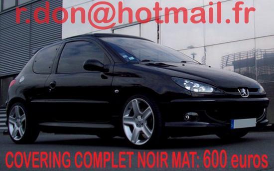 Peugeot 206+, Peugeot 206+, covering Peugeot 206+ noir mat