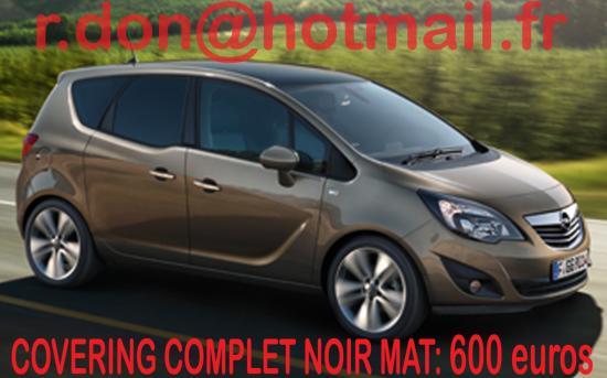 Opel Meriva, Opel Meriva, covering Opel Meriva noir mat