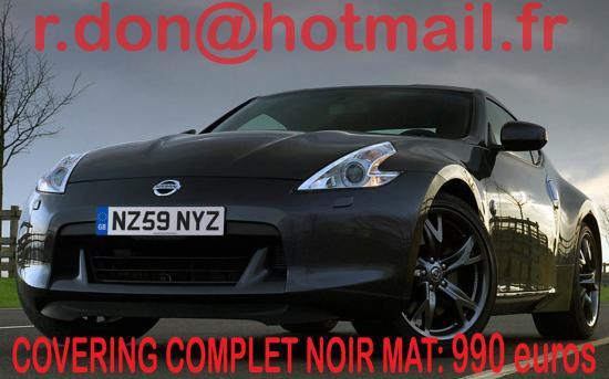 Nissan 370 Z, Nissan 370 Z, covering Nissan 370 Z noir mat