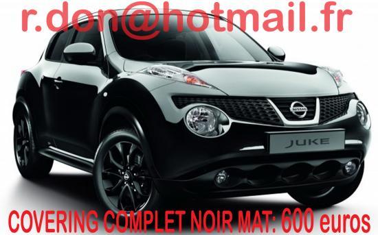 Nissan Juke, Nissan Juke, covering Nissan Juke noir mat