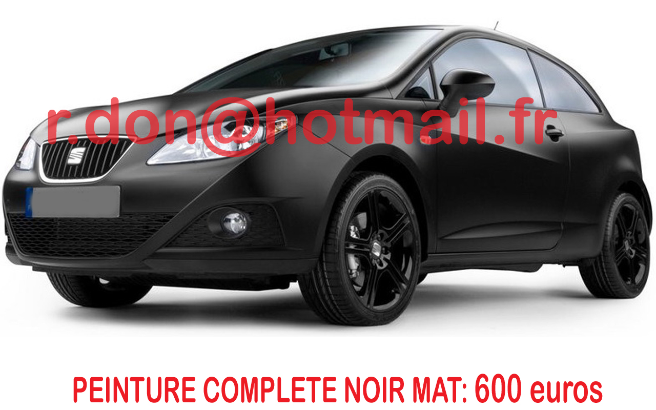 seat cupra peinture noir mat discount total covering noir mat covering seat ibiza seat ibiza. Black Bedroom Furniture Sets. Home Design Ideas