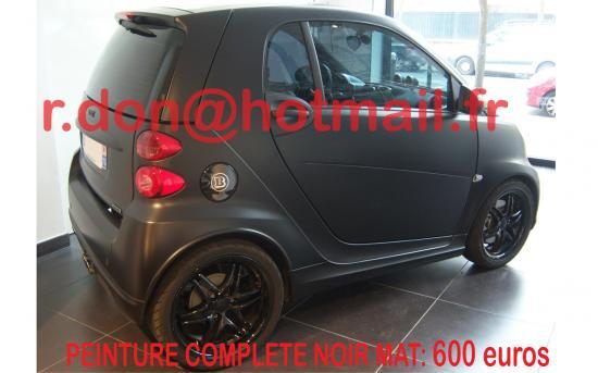 SMART-FOR-TWO, peinture noir mat auto, black matte auto