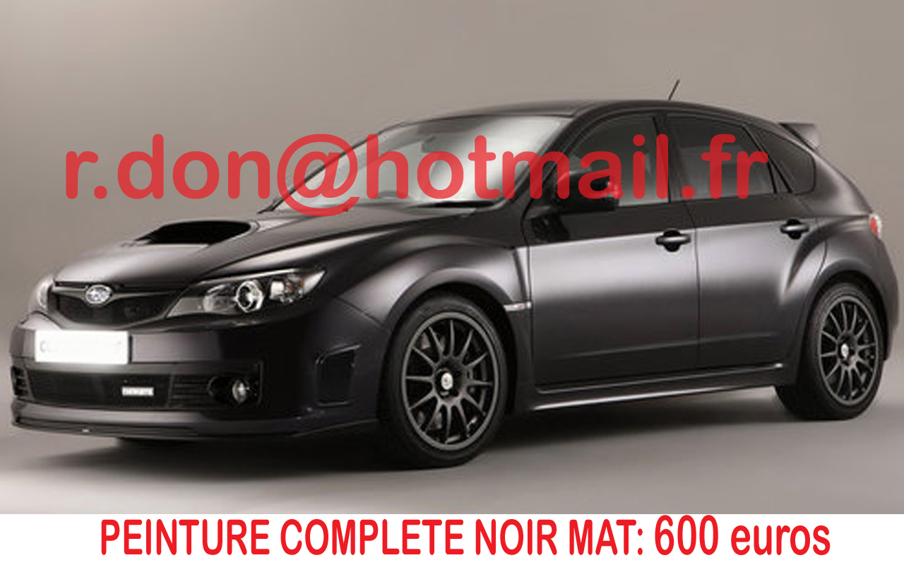 subaru covering peinture noir mat covering noir mat peinture noir mat total covering voiture. Black Bedroom Furniture Sets. Home Design Ideas