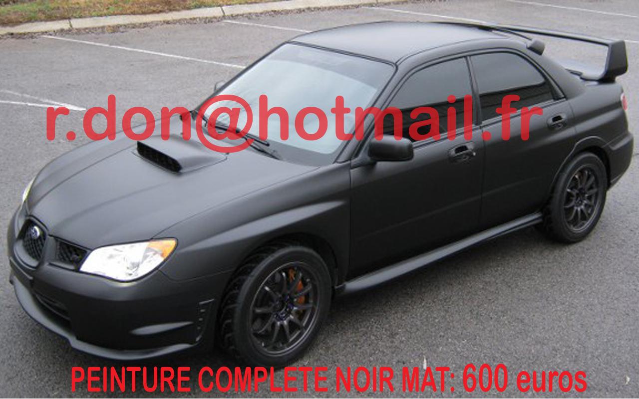 Subaru covering peinture noir mat black mat covering noir - Peinture glycero noir mat ...