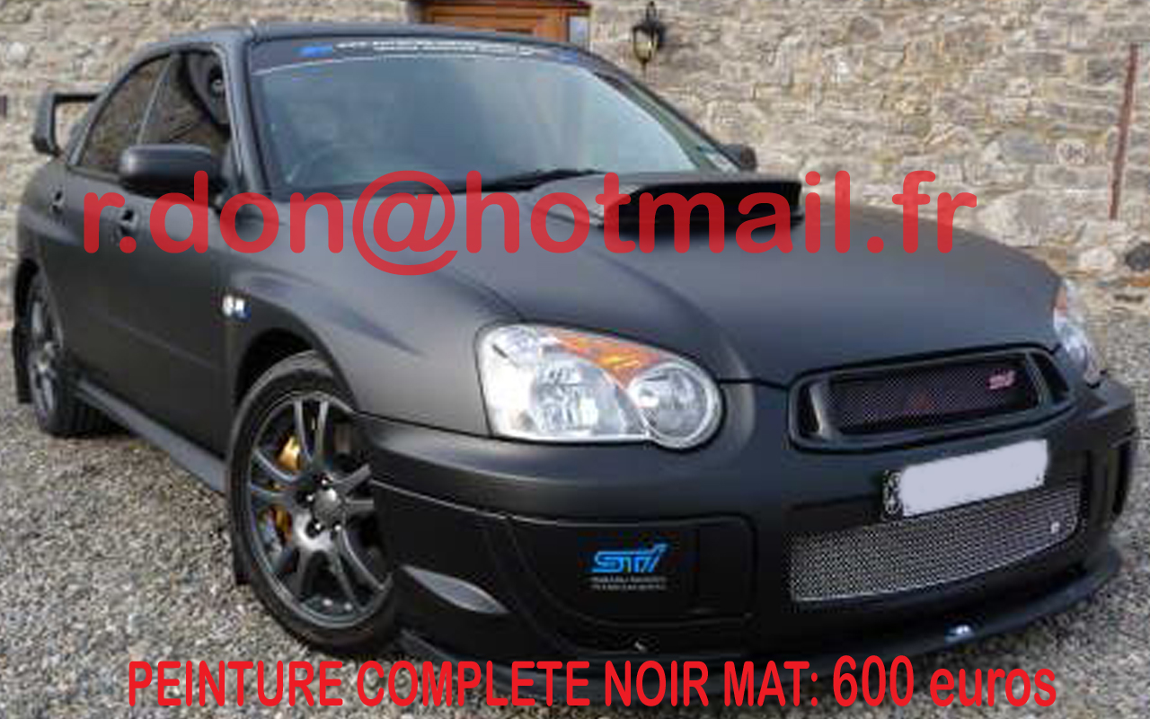subaru covering peinture noir mat subaru total covering paris subaru black mat. Black Bedroom Furniture Sets. Home Design Ideas