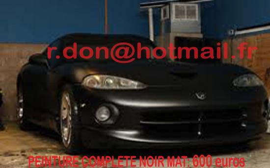Dodge Viper noir mat, Dodge Viper noir mat, Dodge mat