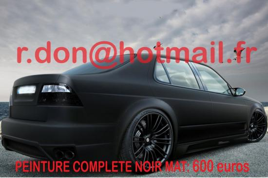 Volkswagen Passat noir mat, Volkswagen Passat noir mat