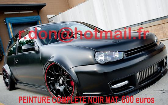volkswagen golf covering noir mat jantes noir mat peinture noir mat. Black Bedroom Furniture Sets. Home Design Ideas