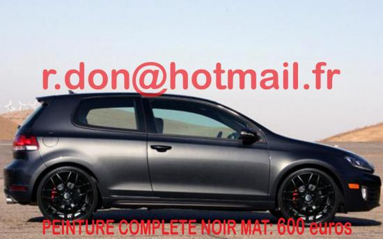 VOLKSWAGEN-GOLF-5 covering noir mat