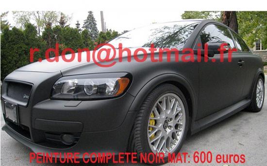 VOLVO-C30 covering noir mat